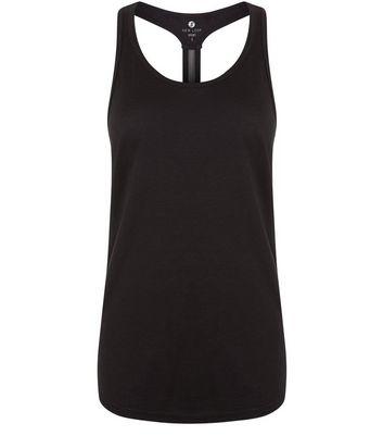 Black Mesh Back Sports Vest New Look