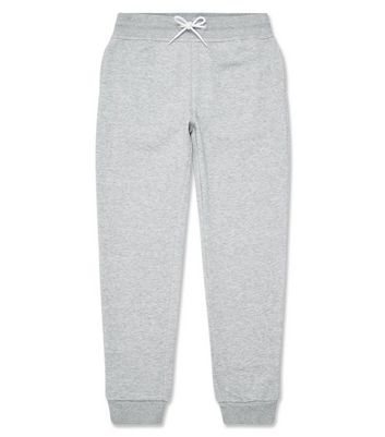 Grey Marl Basic Joggers New Look