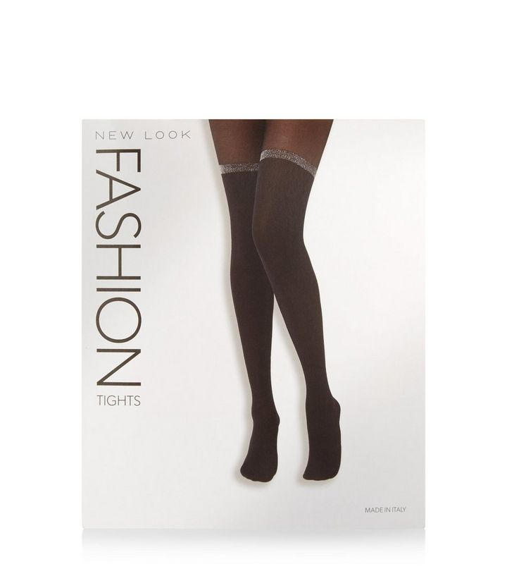 3ec78899dfa ... Black Glitter Trim Suspender Tights. ×. ×. ×. Shop the look