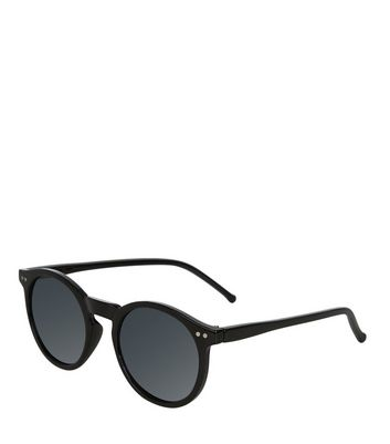 Black Round Sunglasses New Look