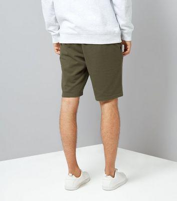 Khaki Jersey Shorts New Look