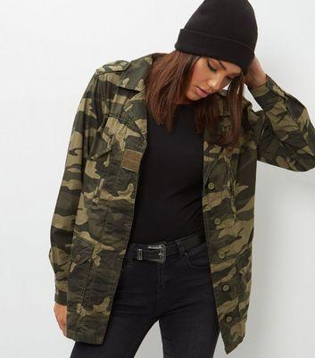 New Look Womens Camo Pocket Jacket
