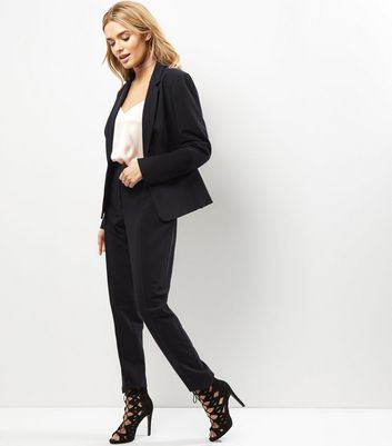 Black Slim Leg Suit Trousers New Look