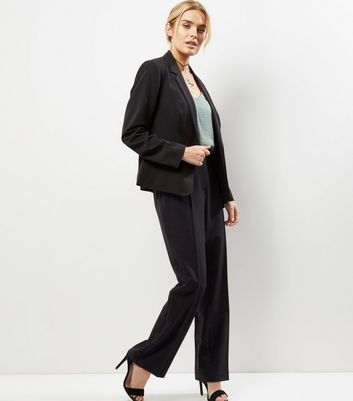Black Suit Bootcut Trousers New Look