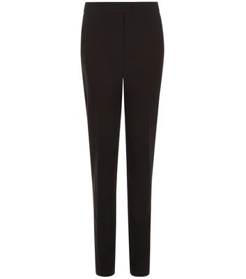 Black Long Slim Leg Trousers New Look