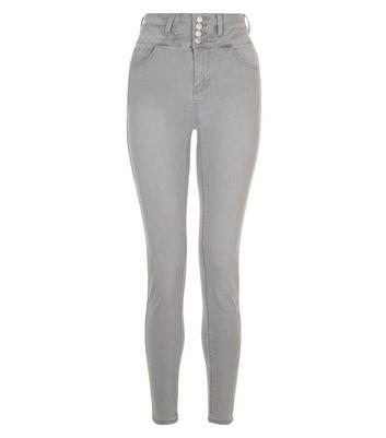 Grey High Waist Skinny Yazmin Jeans New Look