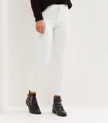 White High Waist Skinny Yazmin Jeans New Look