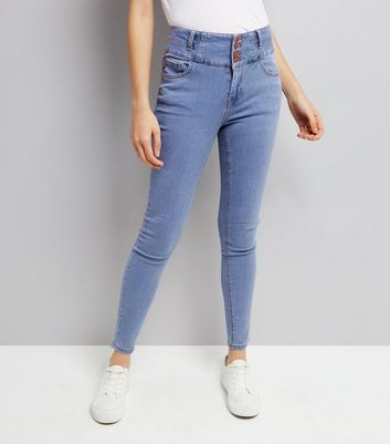 Pale Blue High Waist Skinny Yazmin Jeans New Look