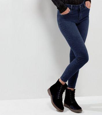 Blue Dark Wash Super Soft Super Skinny India Jeans New Look