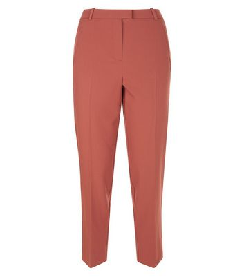 Rust Slim Leg Cropped Trousers New Look
