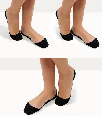 3 Pack Black Pop Socks New Look