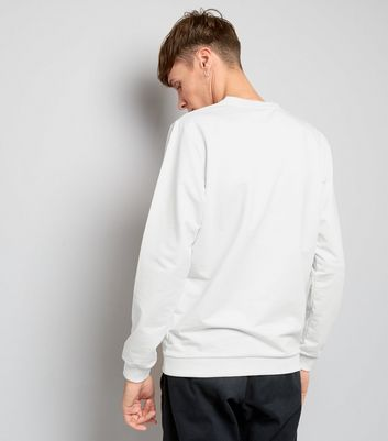 Jack & Jones White Crew Neck Sweater New Look