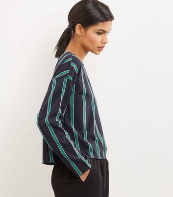Noisy May Blue Stripe Long Sleeve Top New Look