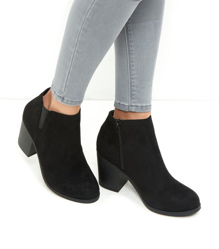 7c8cd522422 Black Suedette Block Heel Chelsea Boots Add to Saved Items Remove from  Saved Items