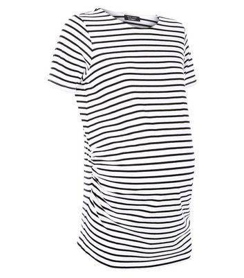 Maternity White Stripe T-Shirt New Look