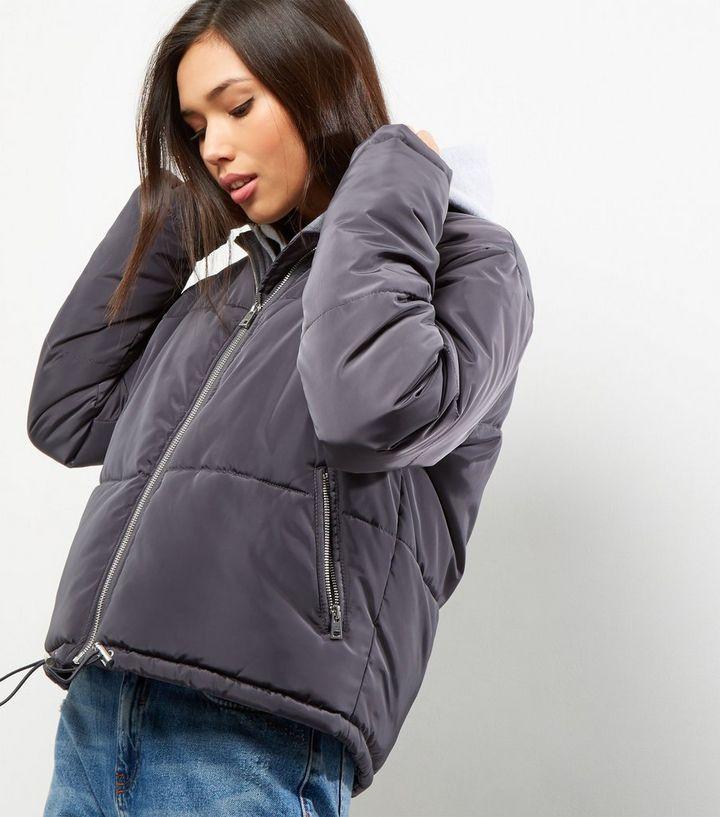 96880791c Dark Grey Padded Puffer Jacket