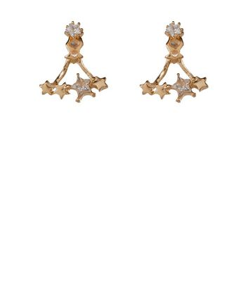 Gold Star Crystal Ear Jackets New Look