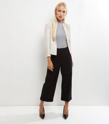 White Cropped Jacket New Look