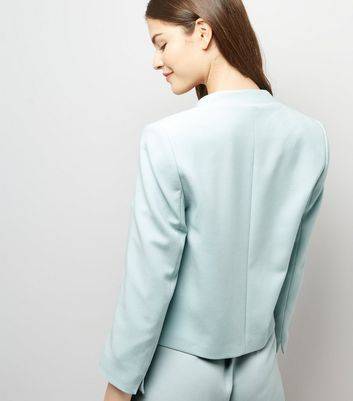 Mint Green Cropped Jacket New Look