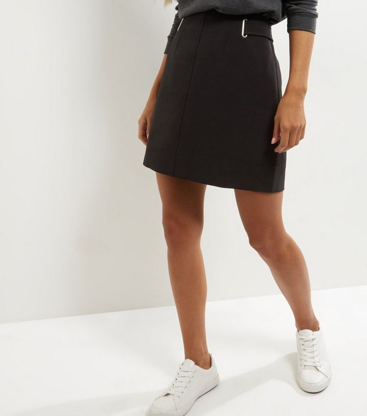 2932935c0 Black Crepe A-Line Skirt | New Look