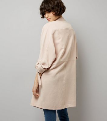 Pink Waterfall Duster Jacket New Look