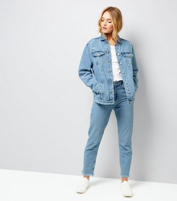 Light Blue Oversized Denim Jacket New Look