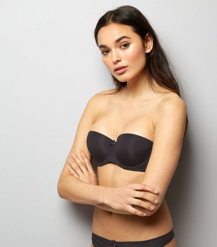 luxury buy fashionable and attractive package Black Microfibre Strapless Bra Add to Saved Items Remove from Saved Items