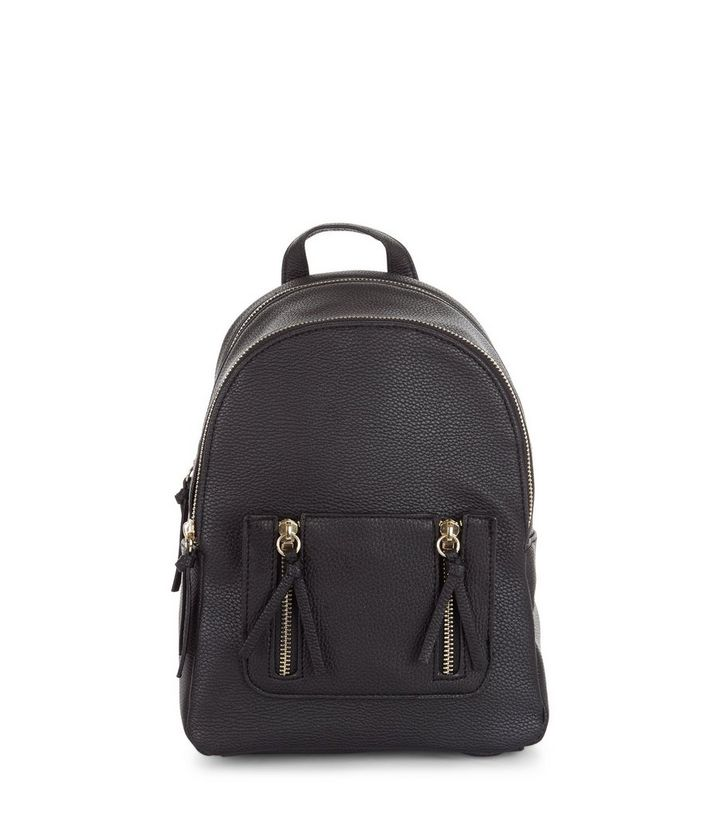 new variety styles of 2019 hottest sale Black Zip Pocket Mini Backpack Add to Saved Items Remove from Saved Items