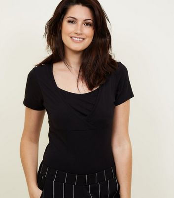 Maternity Black Nursing T-Shirt