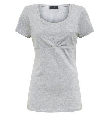 Maternity Grey Nursing T-shirt New Look