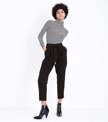 Nouer Liens Noir Avec À Taille New La Look Pantalon q6BTwxaC