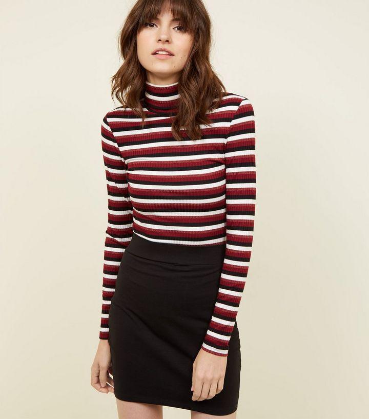 f8ee02a33 Black Cotton Mix Mini Tube Skirt | New Look