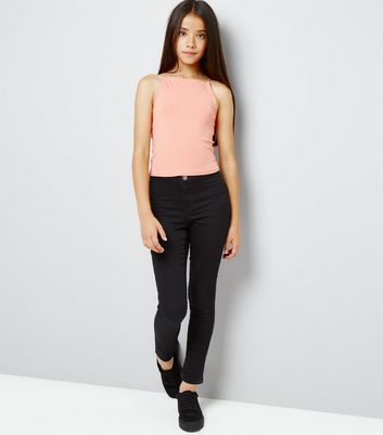 Teens Coral High Neck Cami New Look