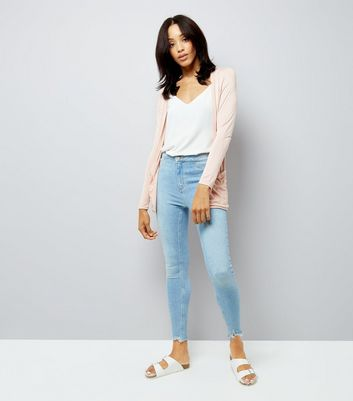 Shell Pink Boyfriend Cardigan New Look
