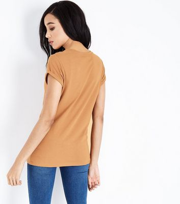 Tall Mustard Yellow Rolled Sleeve T-shirt New Look