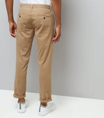 Stone Slim Leg Chino Trousers New Look