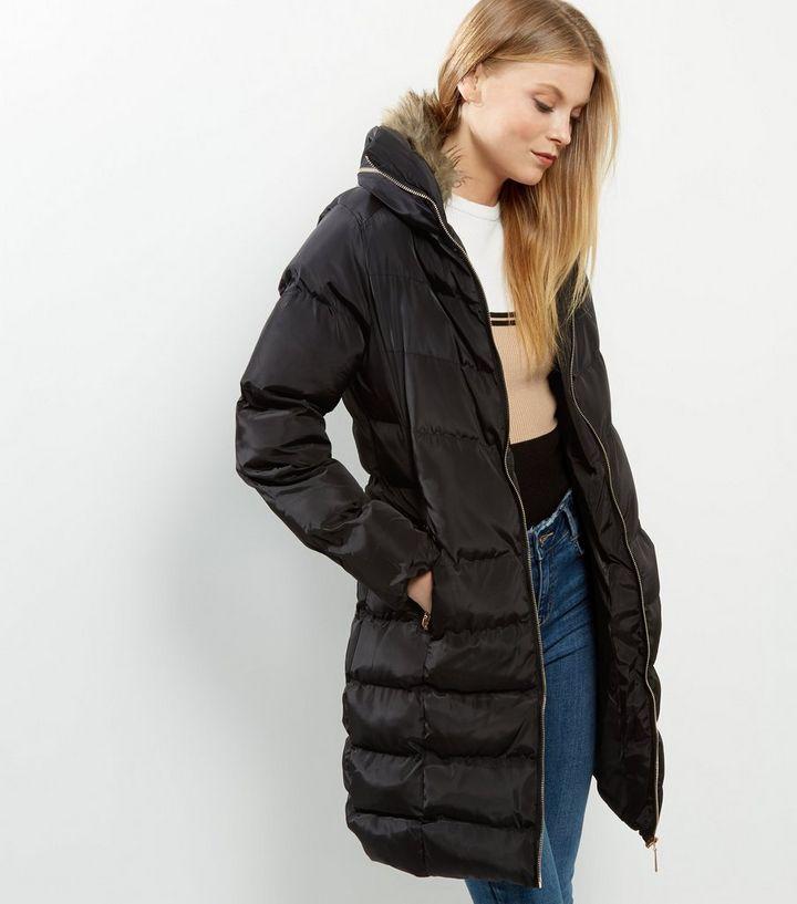 ... manteaux Femme · Blue Vanilla - Manteau longueur XL matelassé noir à  capuche. ×. ×. ×. Shopper le look 4a89ebc407e8