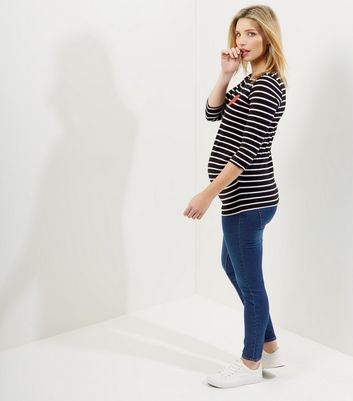 Maternity Navy Over Bump Jeggings