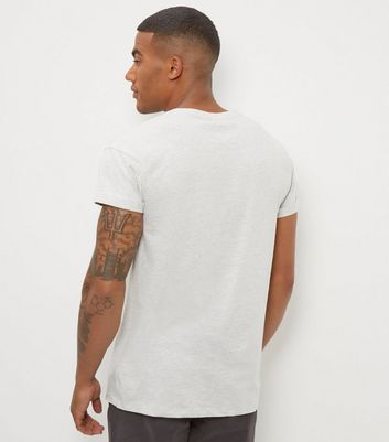 Cream Cotton Rolled Sleeve T-Shirt New Look