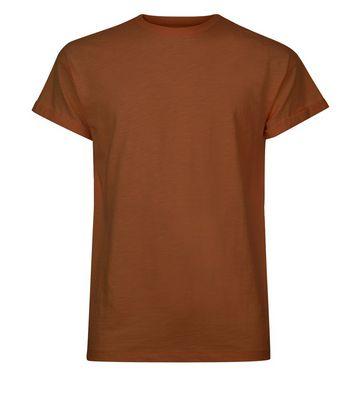 Tan Cotton Short Sleeve T-Shirt New Look