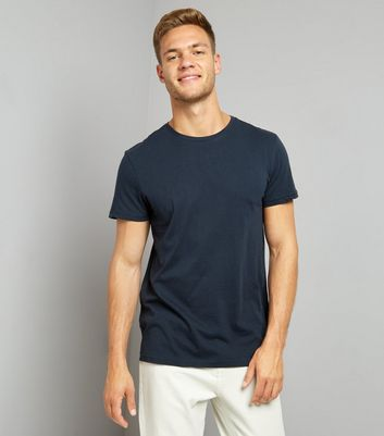 Dark Blue Crew Neck T-Shirt New Look