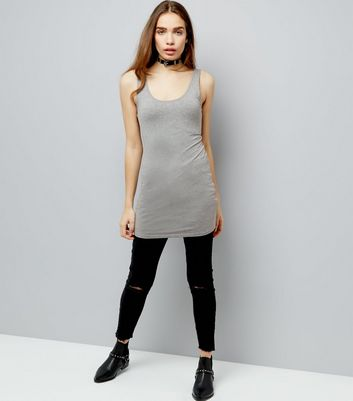 Grey Longline Vest New Look