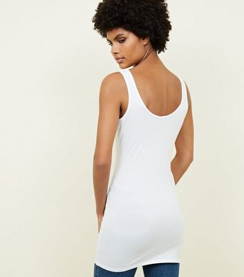 White Longline Vest New Look