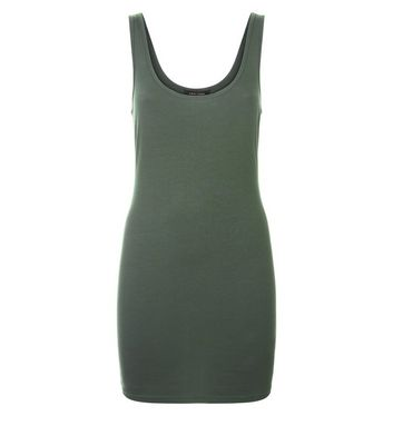 Khaki Longline Vest New Look