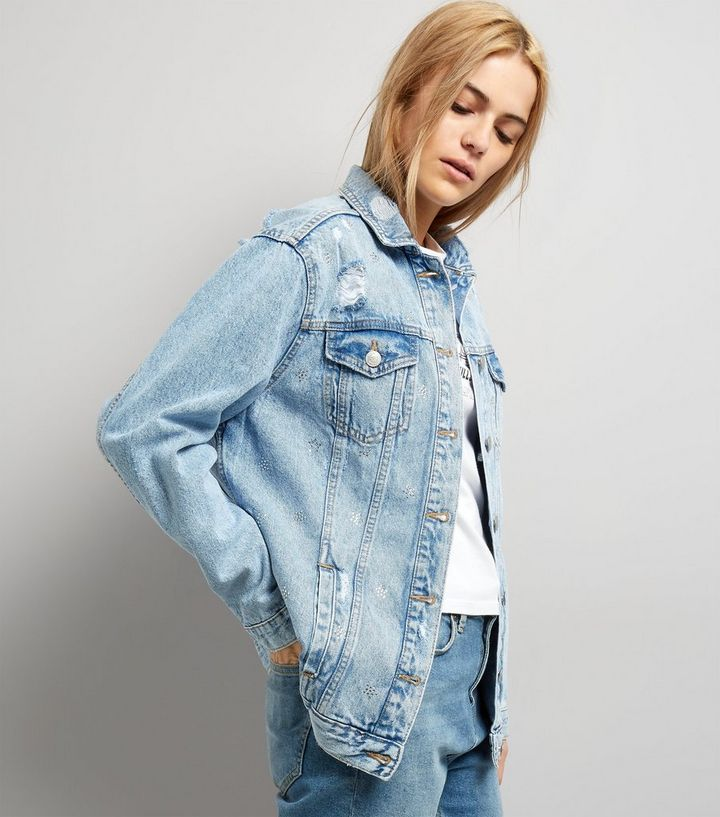 02adbe504 Pale Blue Oversized Denim Jacket Add to Saved Items Remove from Saved Items