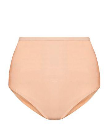 Peach High Waist Bikini Briefs New Look