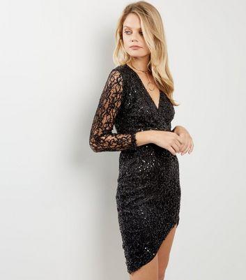 ax-paris-black-plunge-v-neck-sequin-dress