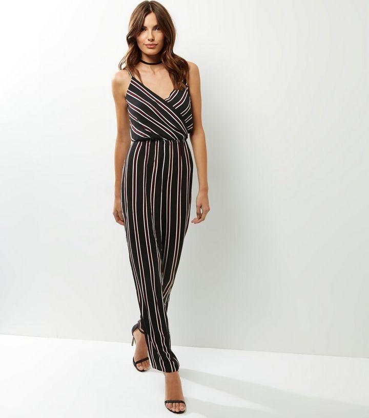 4a33ea41666 AX Paris Black Stripe Jumpsuit