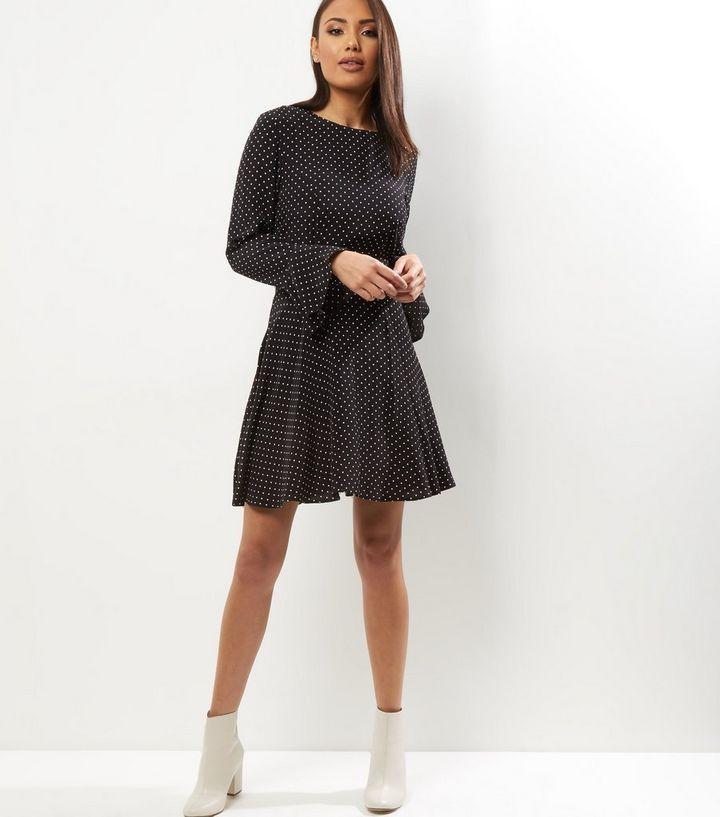 baf5b3c3246 ... Womens Clothing · Dresses · Black Polka Dot Print Bell Sleeve Sweater  Dress. ×. ×. ×. Shop the look