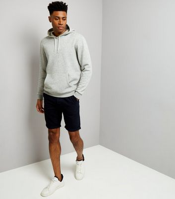 Navy Slim Leg Chino Shorts New Look